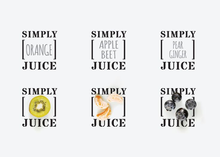 Simply Juice is a premium juice brand developed by Shinsegae, one of the oldest department stores in Korea.  Design: Plus X, Seoul Red Dot Design Award (Brand Identity) 2015