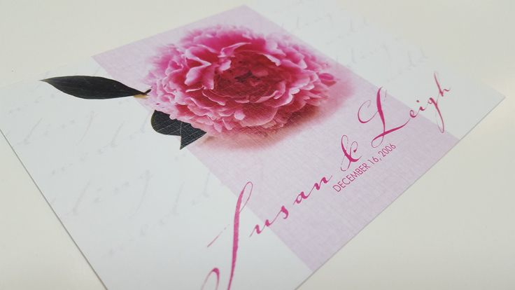 Peony Princess design from Alannah Rose printed on linen textured card stock.