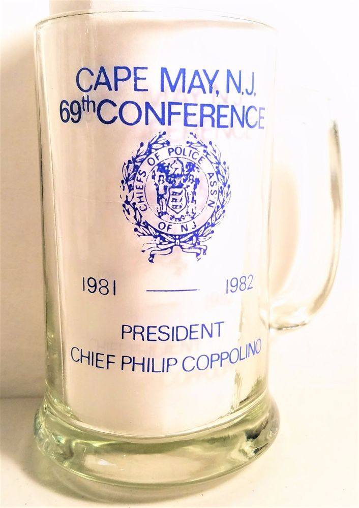 Police Chiefs 69th Conference Cape May New Jersey Vintage 1981-1982 Mug/Glass