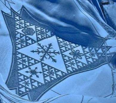 11 best Snow Quilts images on Pinterest | Centerpieces, Circles ... : snow quilts - Adamdwight.com