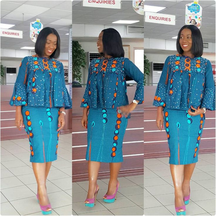 Lovely Ankara fabric with orente detailed blouse