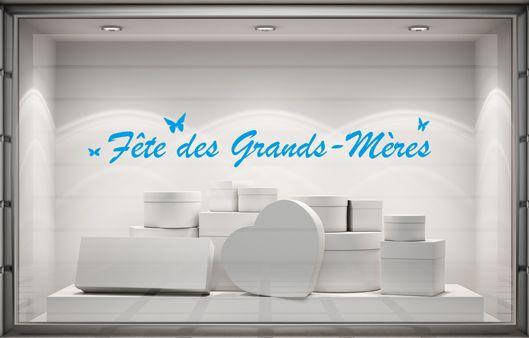 Sticker vitrine Fête des Grands-Mères pour les fleuristes...