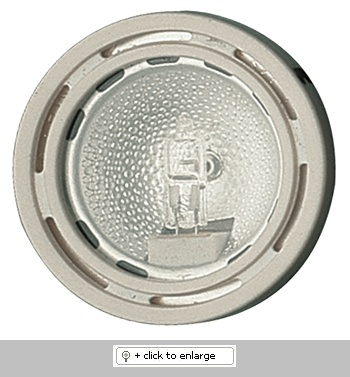 """Mini Surface Mount Downlight with Clear Glass Lens    Downlight with 1 1/2"""" reflector and protective lens.    ETL Listed for remote transformers  Lamp: 12V 20W JC lamp (included)    Dimension: Height: 7/8"""", Cutout: 2 1/4"""", Trim O.D.: 2 5/8""""  Regular price: $19.99  Sale price: $11.99"""