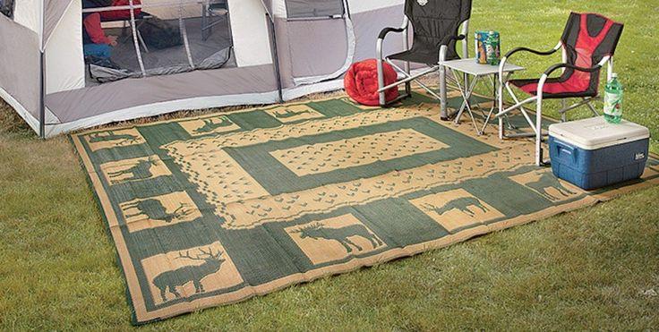 RV Camping Mats Stadium Seats For Bleachers Patio Floor Take Along Pool Beach #Unbranded