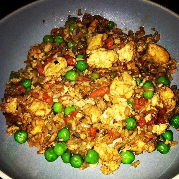 Healthy Chicken Fried Rice. Weight Watchers Recipe.