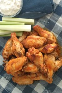 Air Fryer Buffalo Wings Author: The Blue Jean Chef, Meredith Laurence Recipe from, Air Fry Everything Cookbook