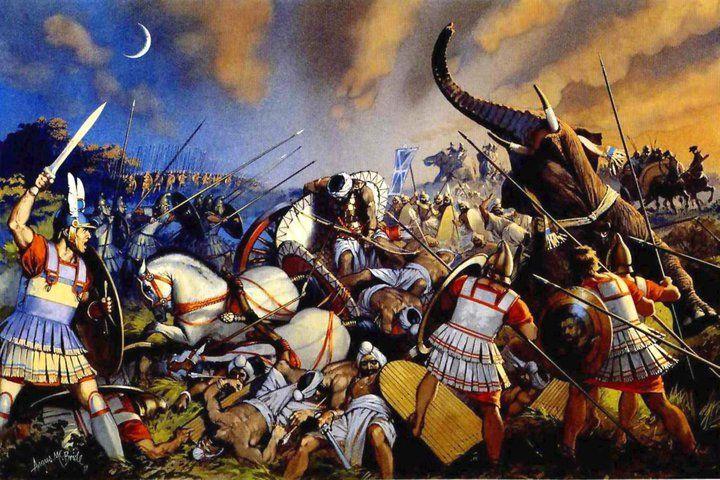 Ο Πώρος ,άλλον είχε στη διάθεση ου 20.000 πεζούς, 2.000 ιππείς 130 ελέφαντες και 180 πολεμικά άρματα