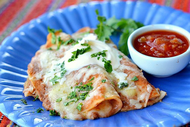 Enfrijoladas (these look like they might taste like Los Portales' cheese enchiladas...)