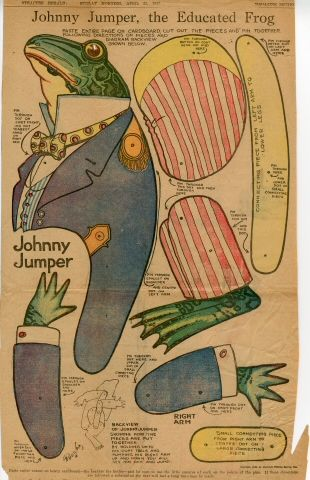 77.260: Johnny Jumper, the Educated Frog | paper toy | More Toys | Toys | Online Collections | The Strong