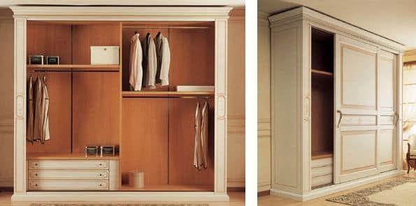 Art. 2004 Canova, Luxury wardrobe, with sliding doors, for classica style bedroom