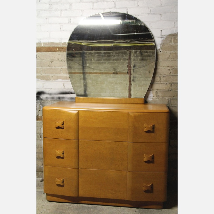 vintage heywood wakefield bedroom set ampersand modern bureau twin rio