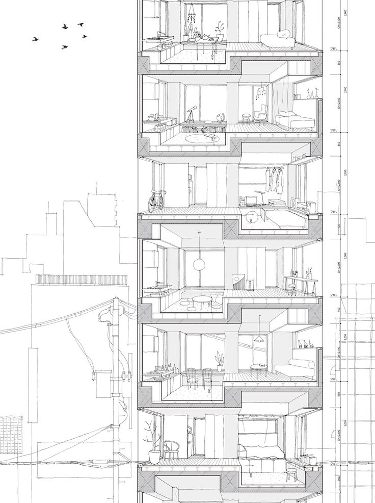 1043 Best Images About Architecture      Sections  U0026 Elevations On Pinterest