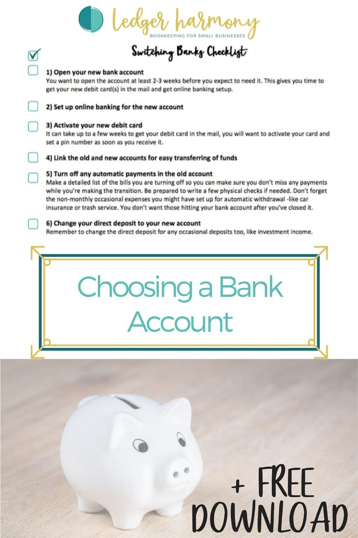 #Banking #moneytips #moneymanagement #freeprintable #moneytips  FREE step-by-step Printable Checklist on how to switch bank accounts.