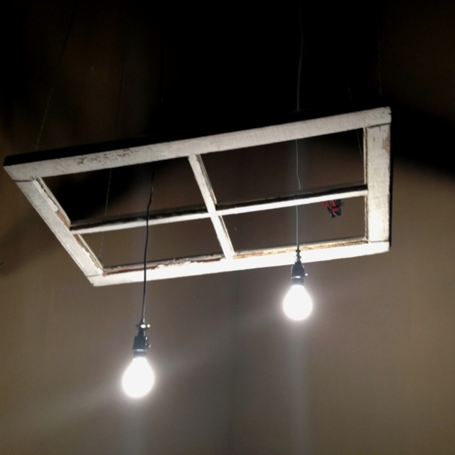 Pendant Drop Tips For Incorporating Pendant Lights Into A: DIY: Old Window Made Into Light Fixture And Suspended From