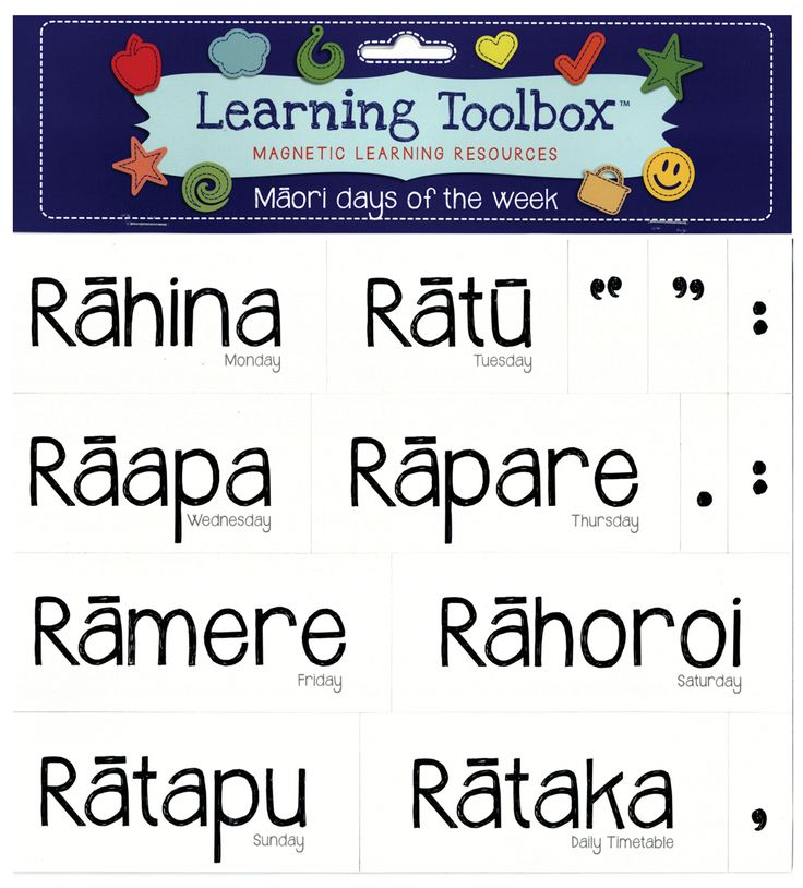 Magnetic Maori Days of Week | Teaching Resources