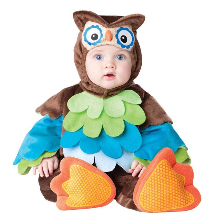 0-2 years 2016 New Cartoon Halloween clothes Infant/Toddler Baby Costume Animal Owl One-piece Rompers Kids Baby's Clothing