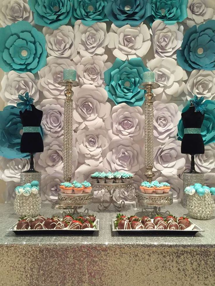 301 best tiffany 39 s party ideas images on pinterest for Party backdrop ideas