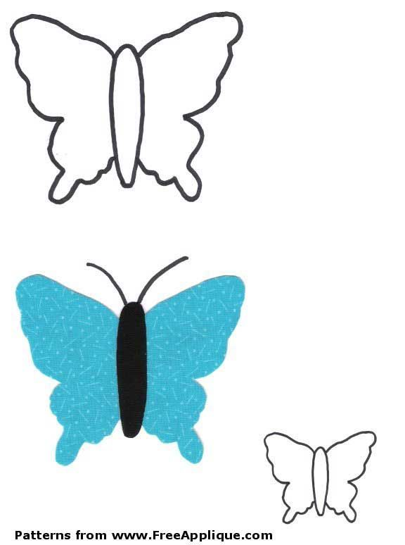 Fabric Scrap Butterfly with Free Pattern |Printable Butterfly Sewing Patterns