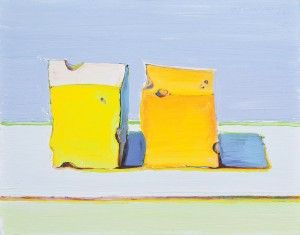 Wayne Thiebaud, Two Cheese Cubes, 2011