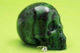 Robijn in Zoisiet Schedel KS-RMIN-21-335  ** prachtige Robijn in zoisiet schedel ***  Wordt jij de nieuwe care taker van deze kanjer !!!