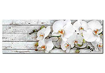 Cuadro 120x40 cm - 3 tres colores a elegir - Impresion en calidad fotografica - Cuadro en lienzo - orquidea flores b-A-0072-b-d 120x40 cm B&D XXL: Amazon.es: Hogar