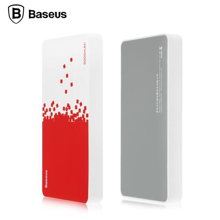 Baseus Portable Téléphone Chargeur de Batterie 5000 mAh Puissance Banque Mobile 18650 Batterie externe Pour Xiaomi mi5 Pro redmi3 iPhone 7 6 5S