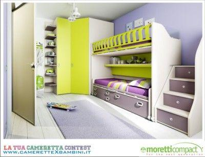Camerette Moretti Compact, progetto Contest