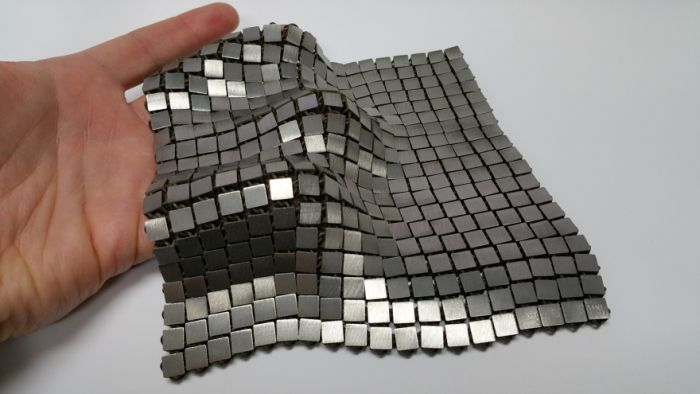 NASA's 3D-Printed Metallic Fabric – 'Space Fabric' Links Fashion and Engineering #nasa #3dprint #future #space