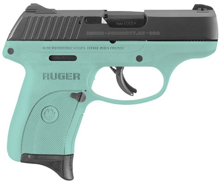 Ruger LC9s 9mm Pistol 3.12in Blued 7+1 Turquoise Frame