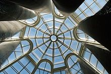 The skylight in the center of the Solomon R. Guggenheim Museum in NYC