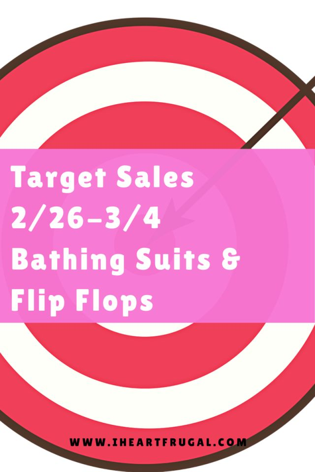 Target Bathing Suit Sale and More 2/26-3/4 - Iheartfrugal