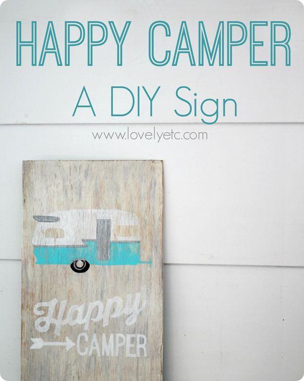 Usted realmente no tiene que ser un artista para hacer sus propios signos de madera personalizado.  Echa un vistazo a la guía de aprendizaje para el signo del campista feliz y verás lo fácil que es en realidad.