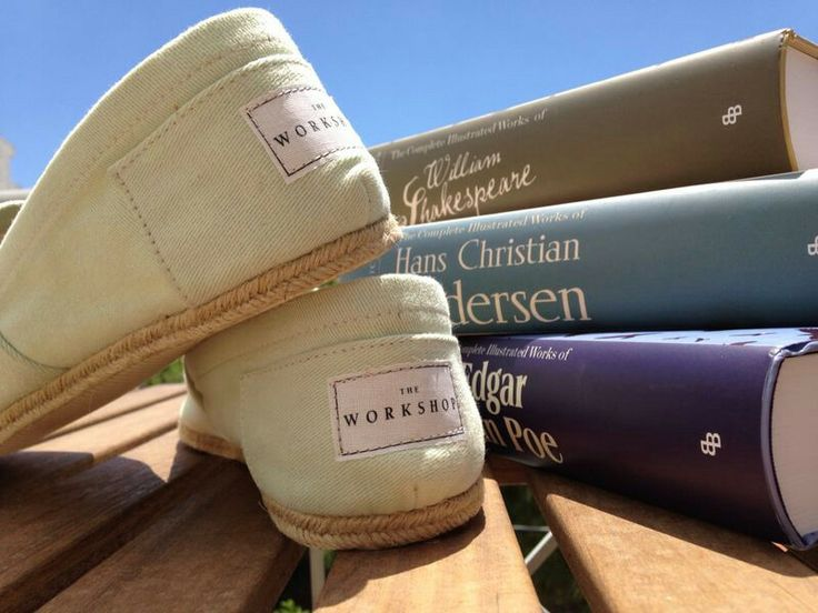 Looking forward to a day in the sun! The Workshop espadrilles