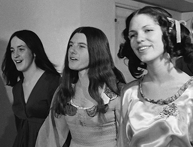 Susan Atkins (looks like a man), Patricia Krenwinkel (looks even more like a man) and Leslie Van Houten (might get paroled in 2016). #mansonfamily #vintagephoto