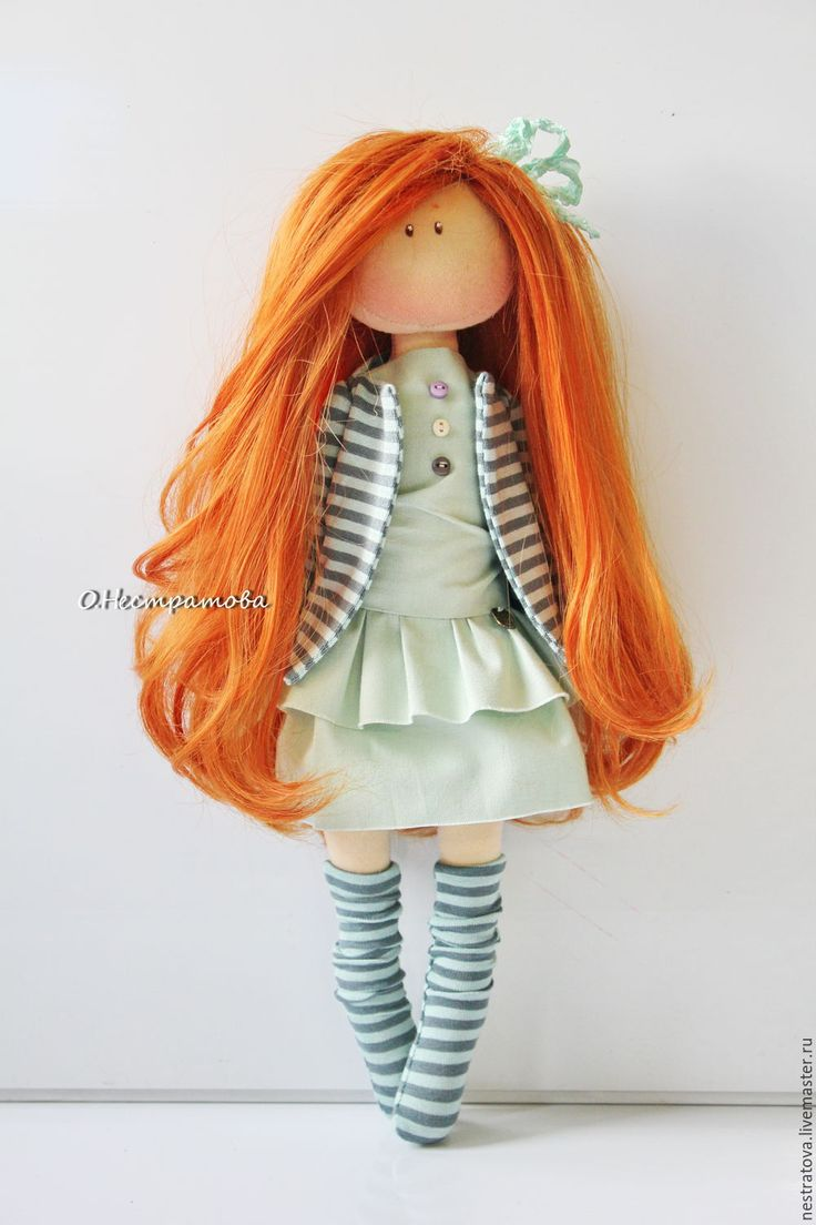 Купить Ингрид. Интерьерная кукла. - мятный, кукла ручной работы, кукла, кукла в подарок