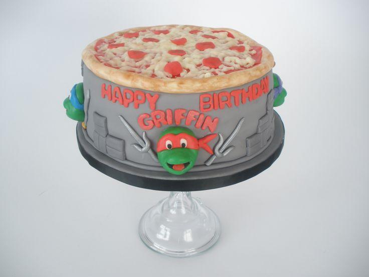 TMNT Cake - Teenage mutant ninja turtle themed cake.