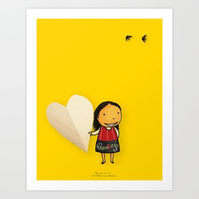 Share your Heart Art Print by Rita Correia Illustrator - $19.00