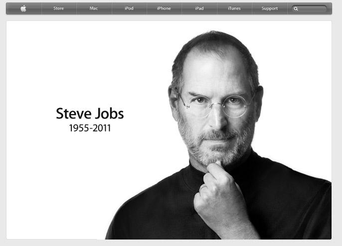 Pagina de la muerte de Steve Jobs