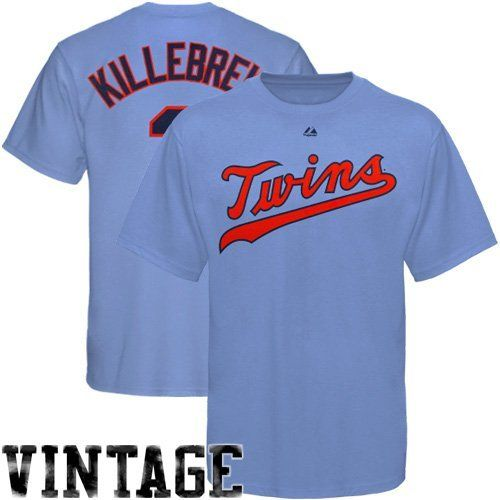 21cffca1a ... Majestic Harmon Killebrew Minnesota Twins Cooperstown 3 T-Shirt - Light  Blue by Majestic ...