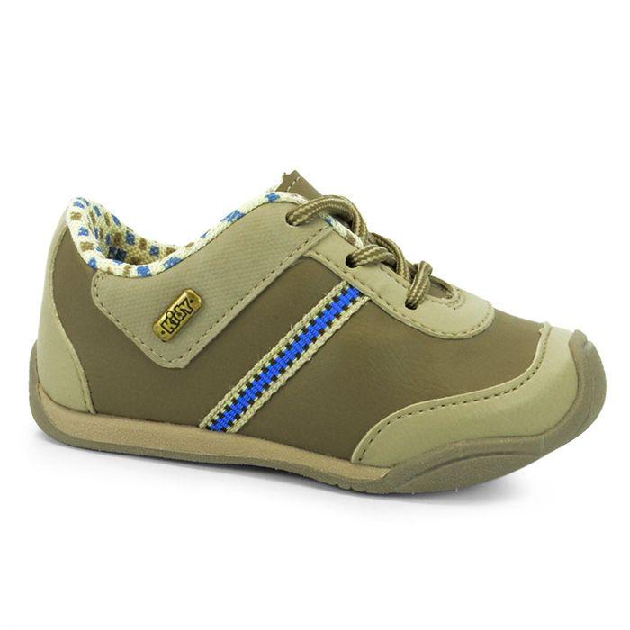 Tenis Infantil Menino Kidy Colors 0080173 - Castor/Bege