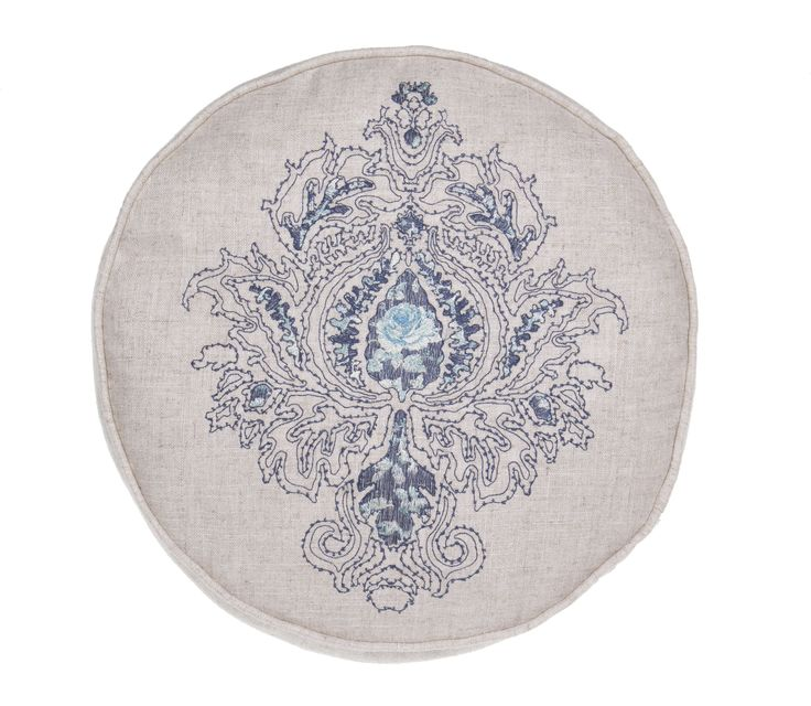 Royal Embroidered Round Pillow