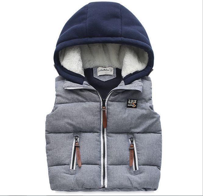 2016 Зимой Дети С Капюшоном толщиной Жилет мальчиков Пальто Малыш Моды Верхняя Одежда Теплый Жилет купить на AliExpress