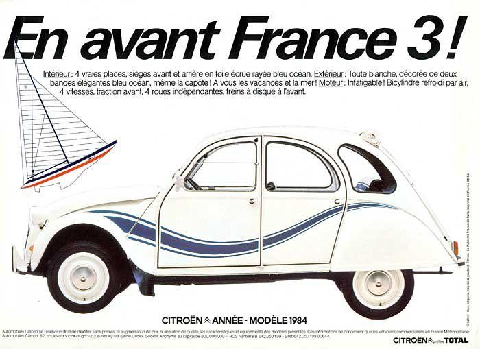 2cv France 3 France Auto Rijden Advertenties