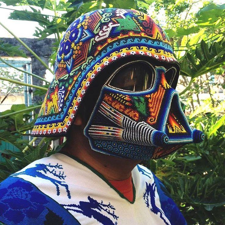 The Force is strong with this one  _ Obra de artista comunitario Wixarica Álvaro Ortiz López-Puwari