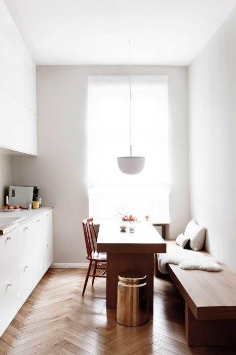 Маленькая кухня в стиле минимализм.