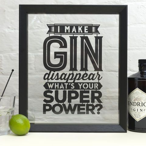 'I Make Gin/Beer/Wine/Cider/Cheese Disappear' Papercut