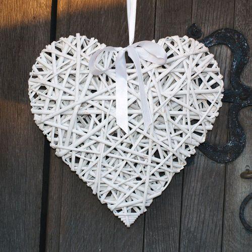 Church Pew Ends, Wedding Flowers, Wedding Decoration, Wicker Hearts