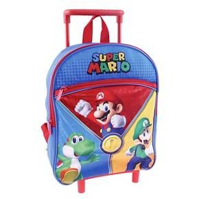 "Nintendo 12"" Super Mario Rolling Kids Backpack - Red : Target"