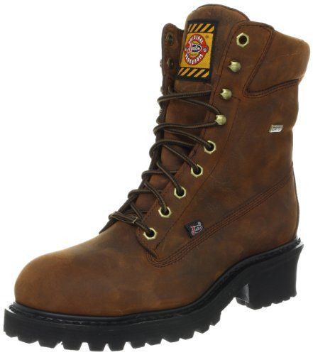 Justin Original Work Boots Men's Worker II Logger Work Boot Justin Original Work Boots. $174.99. All leather upper. J-flex construction. Rubber sole. Polyurethane outsole. Man-made. Justin stablization system. Removable insole