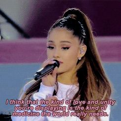 — Ariana Grande took a moment between sets to talk...